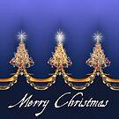Fractally Christmas Card by Alma Lee