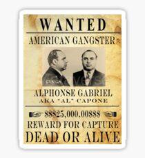 Al Capone Wanted Sticker