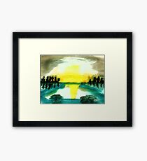 Reflection on the water, watercolor Framed Print