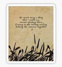 JD Salinger Quote Sticker