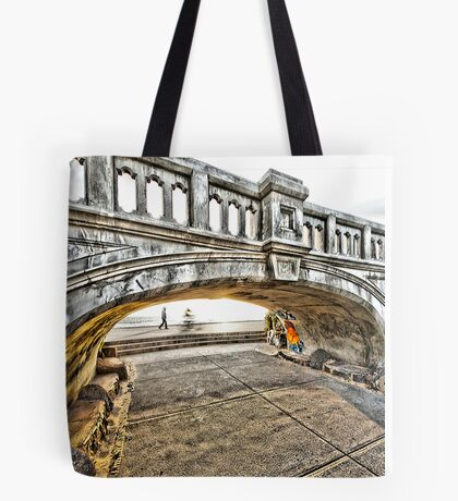 Lifes' road flashes before him! Tote Bag