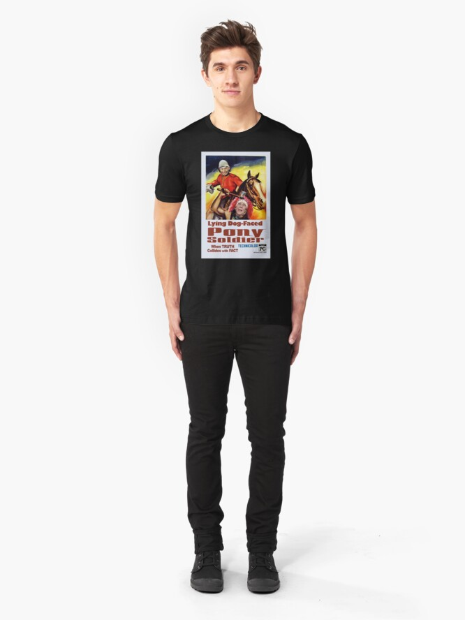 Alternate view of Lying Dog-Faced Pony Soldier Slim Fit T-Shirt