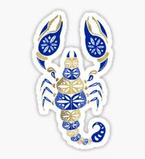 Scorpion – Navy & Gold Sticker