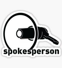 spokesperson Sticker