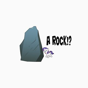 Rarity - A rock?! by fluttershy1