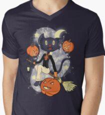 Halloween Cat On A Broomstick T-Shirt