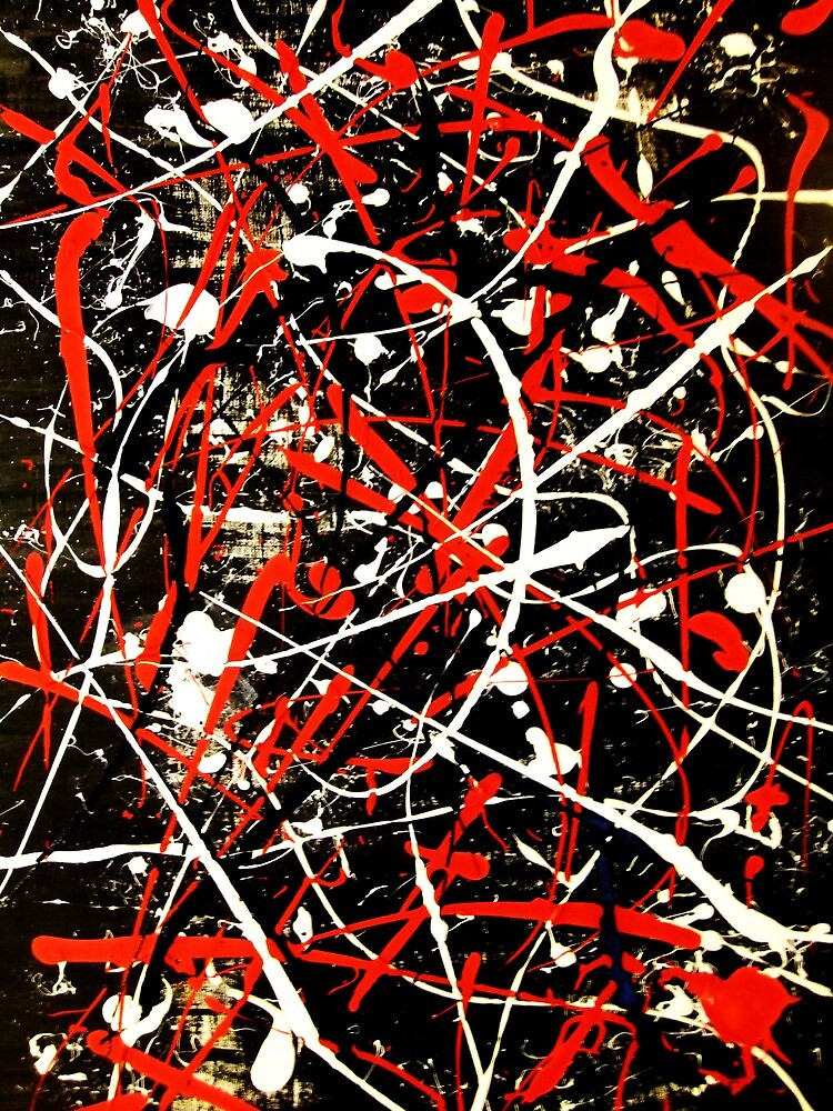 Abstract Splatter Painting by jlv-