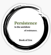 Motivation and Persistence Quote Sticker