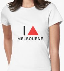 i ∆ melbourne (red) Women's Fitted T-Shirt