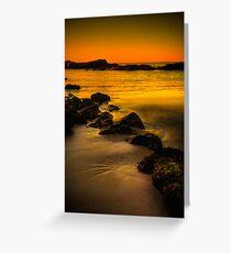 Main Beach at sunset, Robe Greeting Card