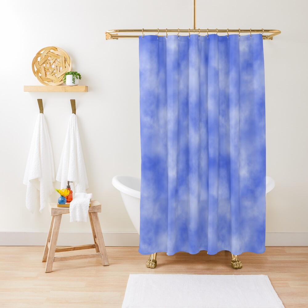 Blue sky background with clouds. Shower Curtain