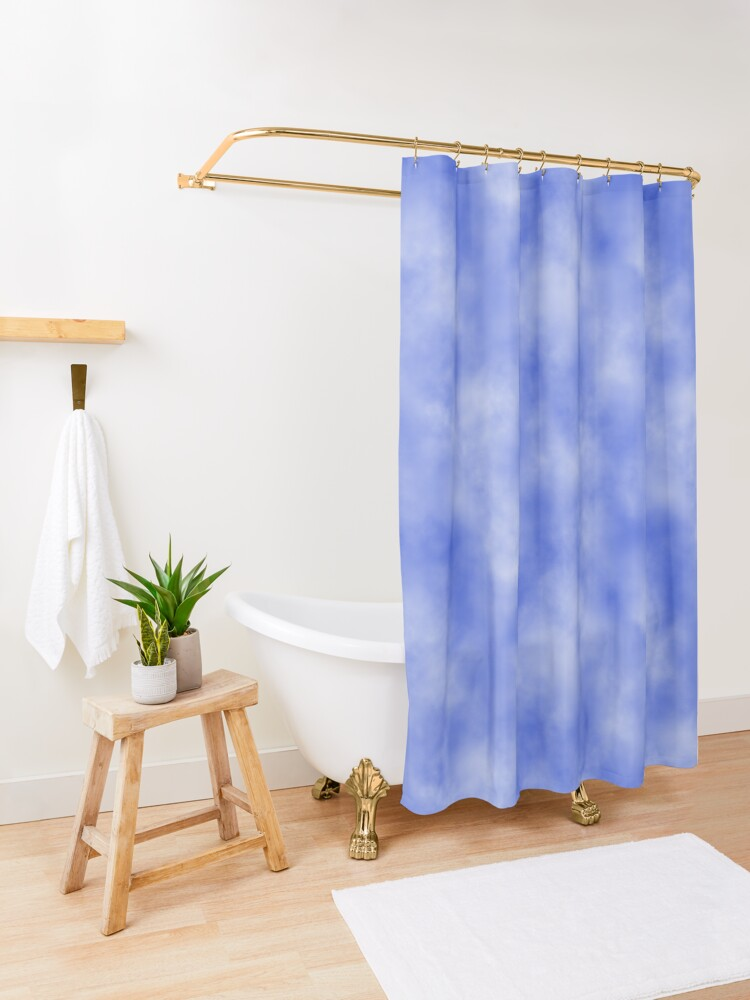 Alternate view of Blue sky background with clouds. Shower Curtain