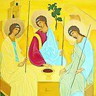 Holy Trinity Painting (italo-cretan-art) by Marinella by marinella
