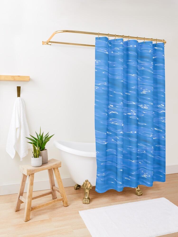 Alternate view of Aqua Shower Curtain