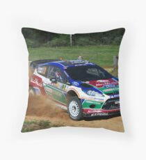 Mikko Hirvonen SS12 Rally Australia Throw Pillow