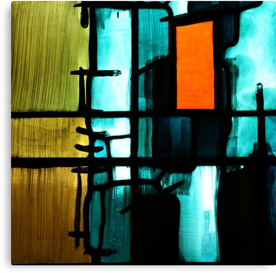 Orange Detail - Coventry Cathedral by John Dalkin