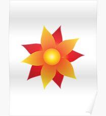 Firery Pinwheel Poster