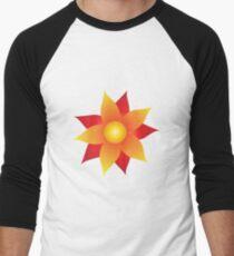 Firery Pinwheel Men's Baseball ¾ T-Shirt