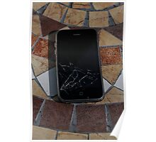 Cracked iPhone Poster