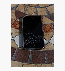 Cracked iPhone Photographic Print