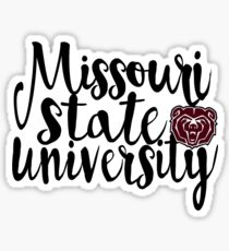 Missouri State University Script Sticker