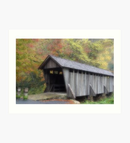 The Old Town Covered Bridge Art Print