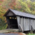The Old Town Covered Bridge by Karol Livote