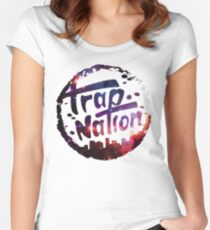 Trap Nation Galaxy Women's Fitted Scoop T-Shirt