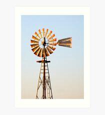 Classic Midwester American Windmill Art Print