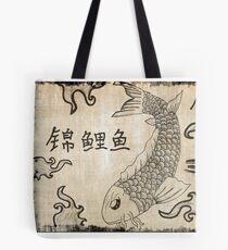 Koi Fish on Parchment Paper Tote Bag