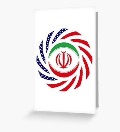 Iranian American Multinational Patriot Flag Series Greeting Card