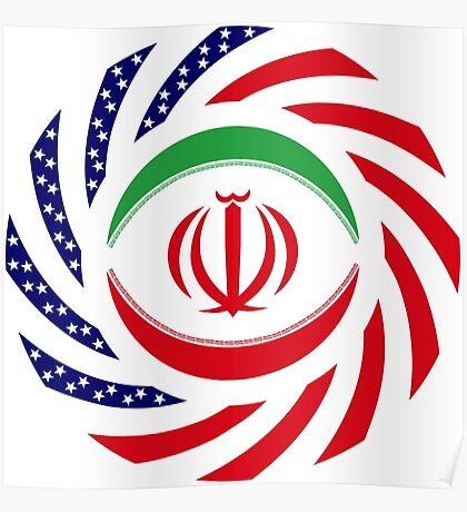 Iranian American Multinational Patriot Flag Series Poster