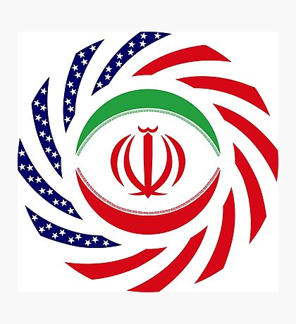 Iranian American Multinational Patriot Flag Series Photographic Print