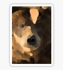 brown bear abstract Sticker
