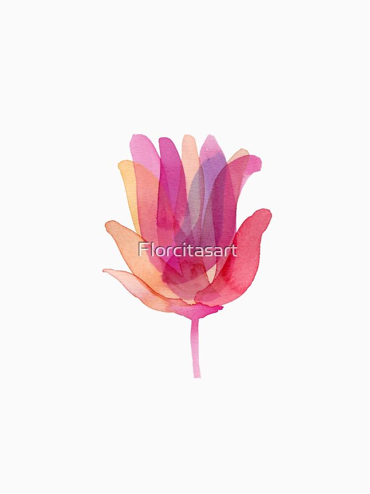 Watercolor Tulip transparencies by Florcitasart