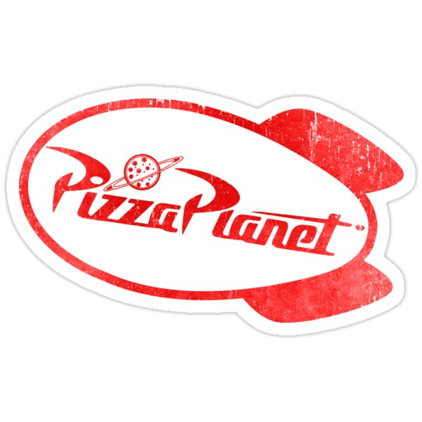 Quot Pizza Planet Quot Stickers By Wizz Kid Redbubble