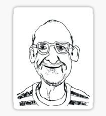 Portrait of an old man Sticker
