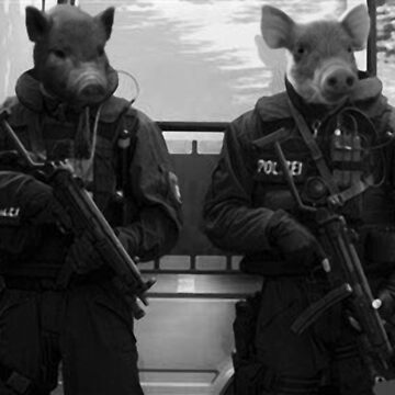 Pigs Of The Police State by JLHStudios