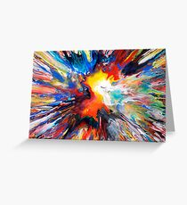Colourful Spin Painting 24 Greeting Card