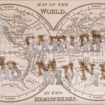Caminhos do Mundo Old Map series by dreamphotos