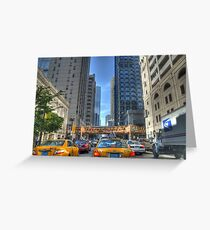 Chicago Rush Hour Traffic Cabs Greeting Card