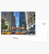 Chicago Rush Hour Traffic Cabs Postcards