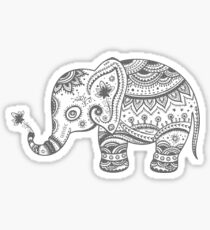 Gray Tones Cute Elephant Sticker