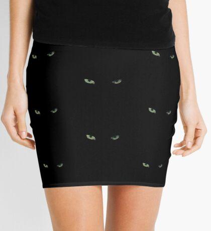 Eye of the Black Cat Mini Skirt