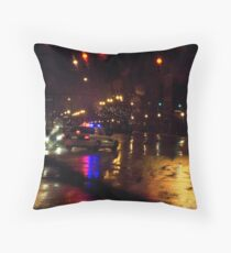 Running Red In The Rain Throw Pillow