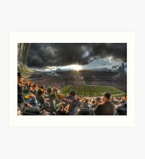 Bears vs. Packers: Rivalry in the Stands Art Print