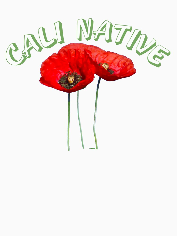 Cali Native with State Flower the Poppy by Rightbrainwoman