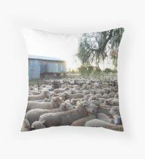 Preparing for Shearing - Western NSW Throw Pillow