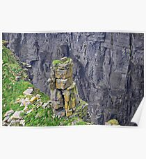 Outcropping at the Cliffs of Moher Poster