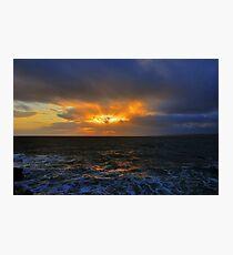 Sunset near Hook Head Lighthouse Photographic Print